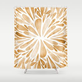 Symmetric drops - orange Shower Curtain
