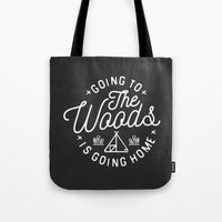 arya Tote Bags featuring Going to the Woods is Going Home by Kevin Arya