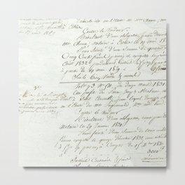 French Script Metal Print