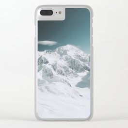 Snowy Mountain : Mount Denali, Alaska Clear iPhone Case