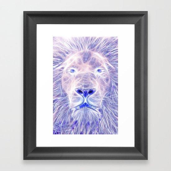 Electric Lion Framed Art Print