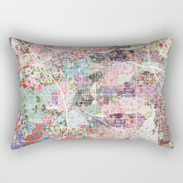 Tucson map flowers Rectangular Pillow