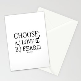 Choose Love Over Fear Stationery Cards