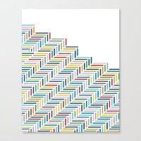 Herringbone Color Part Canvas Print