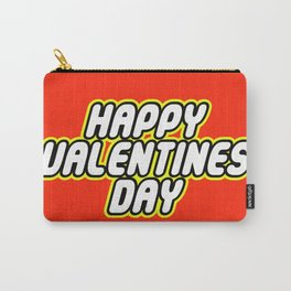 HAPPY VALENTINES DAY in Brick Font Logo Design by Chillee Wilson Carry-All Pouch