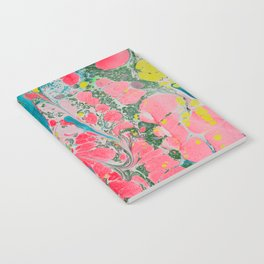 Fruit Cocktail Hand-Marbleized Notebook