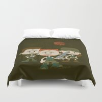 military Duvet Covers featuring The Military by DoodleHeadDee