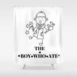 The Boy Who Ate Line Art - Ron Weasley Shower Curtain