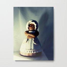 Menacing Ceramic/Burlap Horror Doll Metal Print