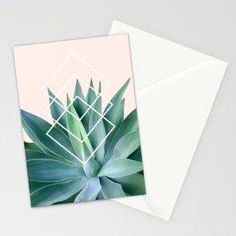 Agave geometrics - peach Stationery Cards