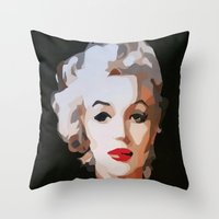 monroe Throw Pillows featuring Monroe by The Art Of Gem Starr