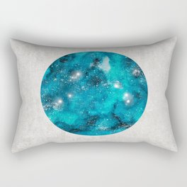 Aries zodiac constellation on the light background Rectangular Pillow