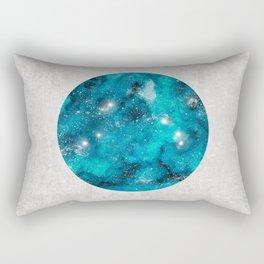 Aries zodiac constellation on the light background Rectangular Pillow