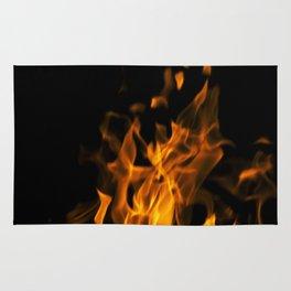 Fire in the dark Rug