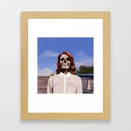 Bones To Die Framed Art Print