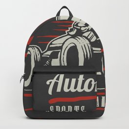 Indy car racing Backpack
