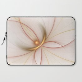 Nobly In Gold And Copper, Fractal Art Laptop Sleeve