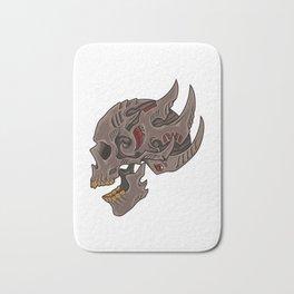 Cyberpunk Skull | Futuristic Death Tribal Bath Mat