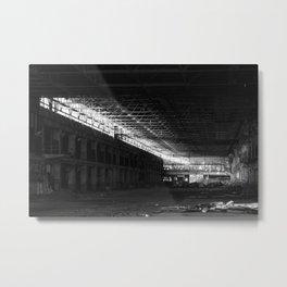Factory Floor Late Afternoon Light Metal Print