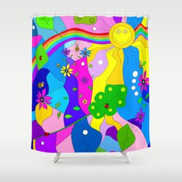 Flamboyant Nature Shower Curtain