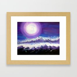 Moon Stand Still In Valley of Aijalon Framed Art Print