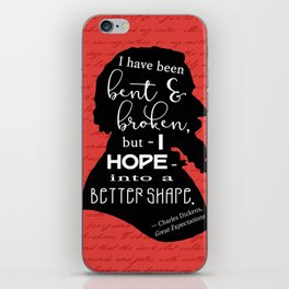 Into a Better Shape - Dickens (Red) iPhone Skin