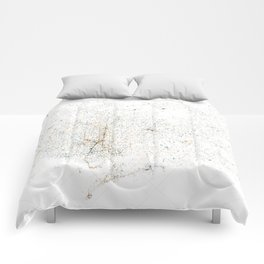 atNight / Barcelona night and day Comforters