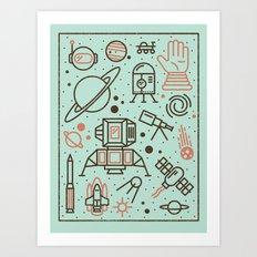Cosmic Frontier  Art Print
