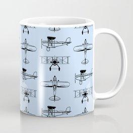 Biplanes // Light Blue Coffee Mug