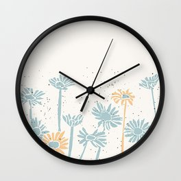 daisy border Wall Clock