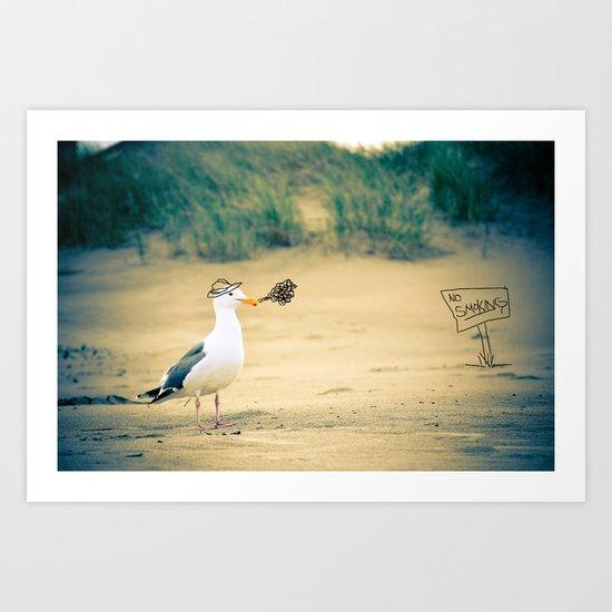 rebel gull. Art Print