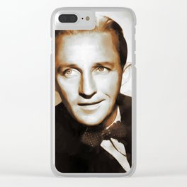 Hollywood Legends, Bing Crosby Clear iPhone Case