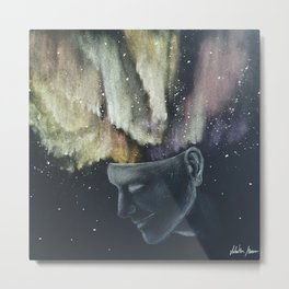 The boy with a powerful mind Metal Print