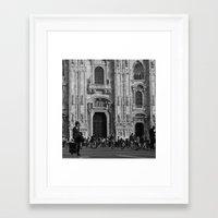 milan Framed Art Prints featuring Milan by Emma Cingano