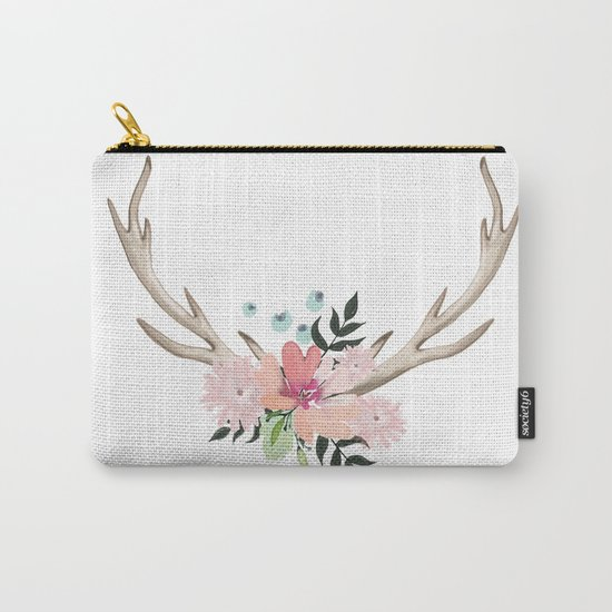 watercolor horns Carry-All Pouch