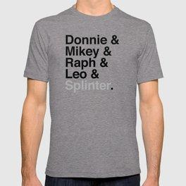 One big mutant family: Donnie & Mikey & Raph & Leo & Splinter T-shirt