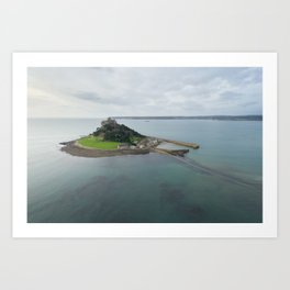 St Michaels Mount aerial Art Print