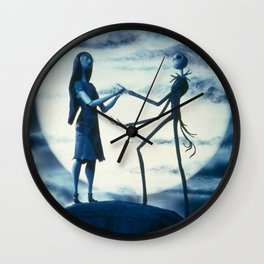 jack and sally love Wall Clock
