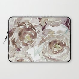 Earthy Painterly Floral Abstract Laptop Sleeve