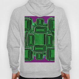 Emerald Gems May Babies Birthstones on Purple Hoody