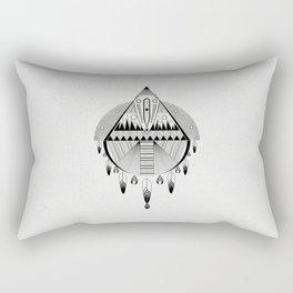 Geometrical black and white dreamcatcher Rectangular Pillow