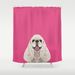 Harper - Cocker Spaniel phone case gifts for dog people dog lovers presents Shower Curtain