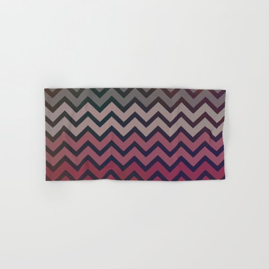 Pink Chevron Hand & Bath Towel