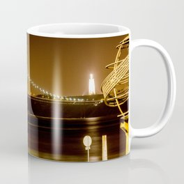 Lisbon bridge light Coffee Mug