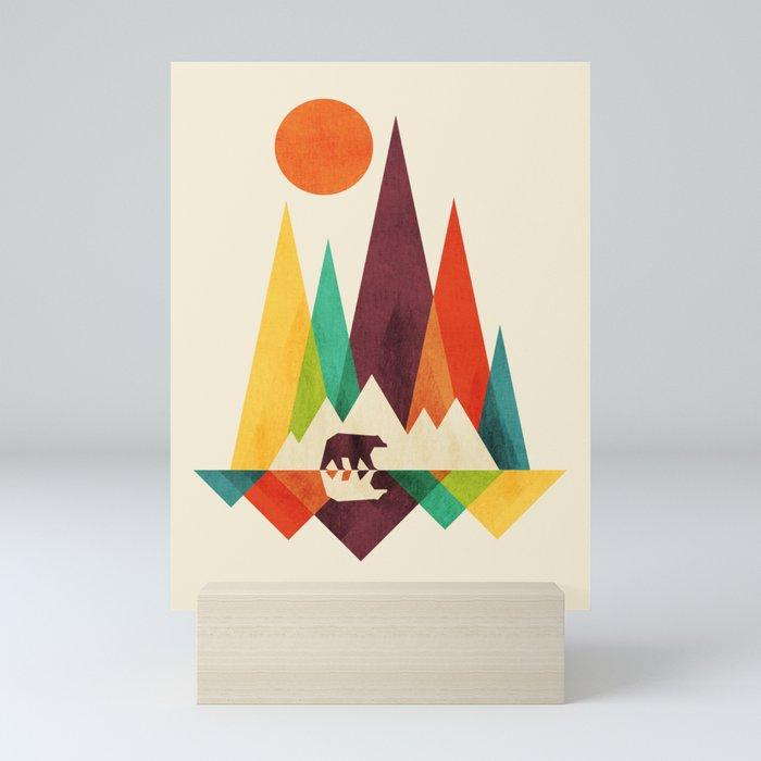 Bear In Whimsical Wild Mini Art Print