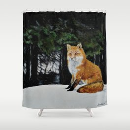 Red Fox of Algonquin by Teresa Thompson Shower Curtain