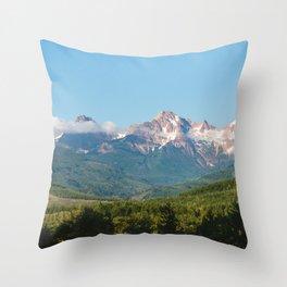 Sunny Mountain Summer Throw Pillow