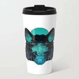 Can You Hear the Forest Whisper? Metal Travel Mug