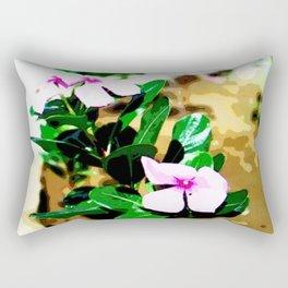Pink flowers in garden  Rectangular Pillow