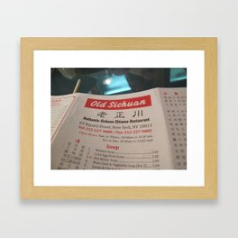Chinese Menu - ( Lunar New Year in New York City: 2010 ) Framed Art Print